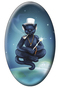 Tarot of the Black Cats The  Magician Magnet