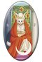 Tarot of the White Cats The High Priestess Magnet