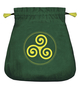 Celtic Triskel Velvet Bag
