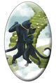 Tarot of the Black Cats The Lovers Magnet
